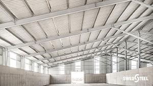 Hőszigetelés nélküli épületek (hidegcsarnokok) egyrétegű trapézlemez burkolata 2.